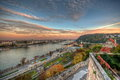 Sunrise over Budapest Royalty Free Stock Photo