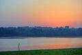 Sunrise over Danube river Royalty Free Stock Photo
