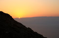 Sunrise over the Dead Sea Royalty Free Stock Photo