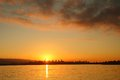 Sunrise over downtown vancouver south side english bay british columbia canada Stock Photography