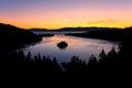 Sunrise over Emerald Bay at Lake Tahoe, California, USA. Royalty Free Stock Photo