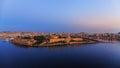 Sunrise over Fort Manoel, Malta Royalty Free Stock Photo