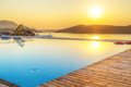 Sunrise over mirabello bay crete greece Royalty Free Stock Images