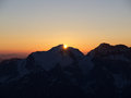 Sunrise over Mountain Summit Stock Photography