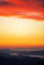 Sunrise over the mountains sock image Royalty Free Stock Photos