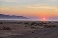 Sunrise over The Namib desert, roadtrip in the wonderful Namib Naukluft National Park, travel destination in Namibia, Africa. Morn