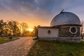 Sunrise over the observatory Royalty Free Stock Photo