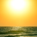 Sunrise over the ocean beautiful Stock Photo