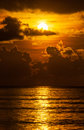 Sunrise over ocean very beautyfull sunset in Stock Image