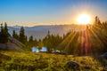 Sunrise over Range Royalty Free Stock Photo