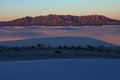 Sunrise over the san andres moutains white sands national monument new mexico Stock Images