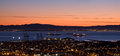 Sunrise over San Francisco Bay Stock Image