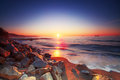 Sunrise over sea beautiful the horizon Stock Photo