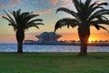 Sunrise Over St. Petersburg Pier Royalty Free Stock Photo