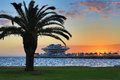 Sunrise over the St. Petersburg Pier Stock Photo
