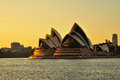 Sunrise over Sydney Opera house Royalty Free Stock Photo