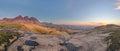Sunrise pano at the peaks sehlabathebe np lesotho Stock Image