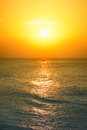 Sunrise photo of on sea india kanyakumari Stock Photo
