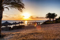 Sunrise on the red sea marsa alam egypt over Stock Photography