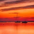 Sunrise on the sardinia yachts at romazzino beach Royalty Free Stock Photos