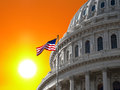 Sunrise sky over us capitol the building dome in washington dc Royalty Free Stock Photos