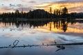 Sunrise on Sprague Lake Royalty Free Stock Photo