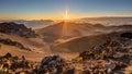 Sunrise at the summit of Haleakala, Maui, Hawaii Royalty Free Stock Photo