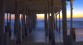 Sunrise Under the Pier Stock Photography