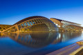 Sunrise in valencia the city of arts and sciences is an entertainment based cultural and architectural complex the city of spain Royalty Free Stock Image