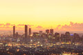 Sunrise View of the Brisbane City from Mount Coot-tha
