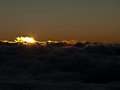 Sunrise view of over the clouds Royalty Free Stock Photography