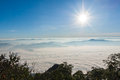 Sunrise view point from doi chiang dao mountain mai thailand Royalty Free Stock Photography