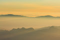 Sunrise view point from doi chiang dao mountain mai thailand Stock Photos