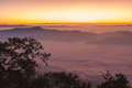 Sunrise view point from doi chiang dao mountain mai thailand Royalty Free Stock Images