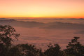 Sunrise view point from doi chiang dao mountain mai thailand Stock Photo