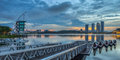 Sunrise view at putrajaya lake iii malaysia Stock Images