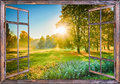 Sunrise view from the window Royalty Free Stock Photo