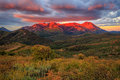 Sunrise in the Wasatch Mountains. Royalty Free Stock Photo
