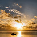 Sunrise on Zanzibar beach Stock Photo