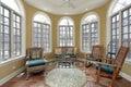Sunroom with terra cotta floors Royalty Free Stock Photo