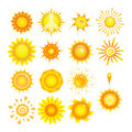 Suns collection Royalty Free Stock Photos