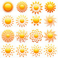 Suns. Elements for design. Royalty Free Stock Image