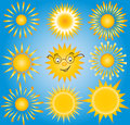 Suns elements for design set of vector suns collection this is file eps format Stock Photo