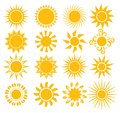 Suns elements for design vector illustration of the Royalty Free Stock Photography
