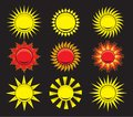 Suns elements for design vector illustration of the Stock Photo