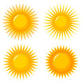 Suns icons elements or collection vector illustration Royalty Free Stock Images