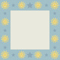Suns with stars square frame featuring sun and and an area for your content Stock Photography