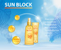 Sunscreen ads template, sun protection, sunblock and sunbath cosmetic products design face lotion and tanning body oil