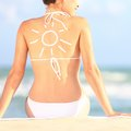 Sunscreen / sun tan lotion Royalty Free Stock Images