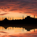 Sunset in Ä°stanbul Stock Photography